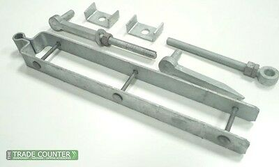 Field Gate Hinges - Heavy Duty Adjustable Hinge Set Galv Steel - Farm Gate Hinge