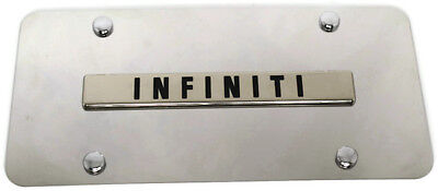infiniti front license plate frame logo on mirror stainless steel