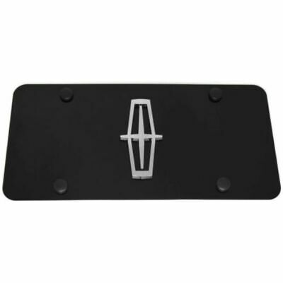 lincoln front license plate frame logo on gloss black stainless steel