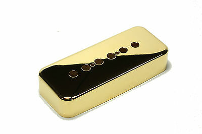 "Gold Plated Metal P90 soapbar pickup cover 1 15/16"" (49.2mm) pole spacing"