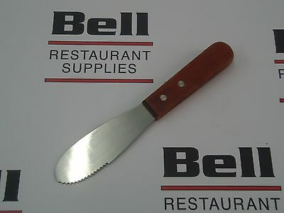 "*NEW* Update WS-6 Wood Handle 6"" Serrated Butter Spreader - Free Shipping!"