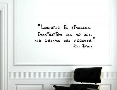 Laughter Is Timeless Walt Disney Vinyl Wall Decals Quotes Sayings
