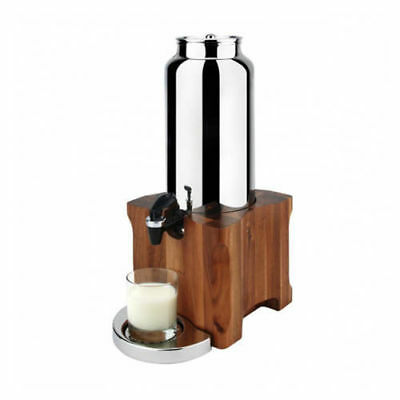 Milk / Drink Dispenser, Acacia Wood Base, 4L, Athena Kool Commercial Quality