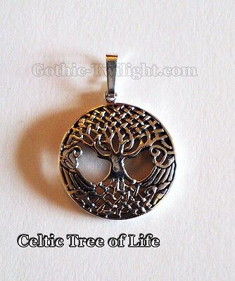 Celtic Tree of Life Sterling Silver Pendant - Wicca Pagan Reiki Hippy Spiritual
