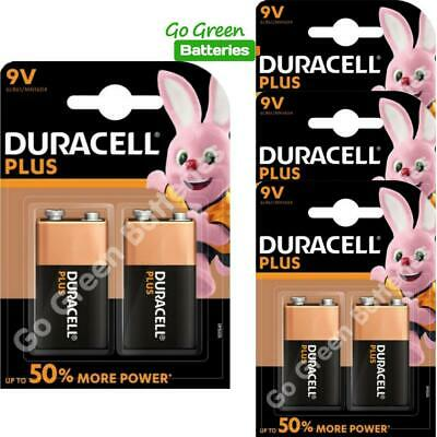 8 x Duracell 9V PP3 Plus Power Batteries, Smoke Alarms (LR22, MN1604, 6LR61)