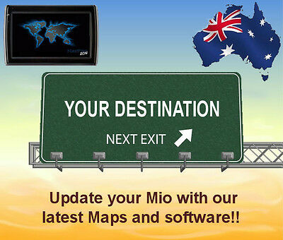 Update your Mio GPS unit with the 2019 australia & NZ maps and software