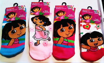 Nickelodeon 4 pairs  Dora Explorer Size:Talla 6-8 Different Pictures New!!!