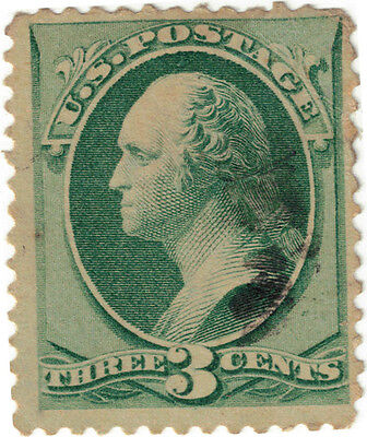 (USA1) 1870 3c green Washington SG208