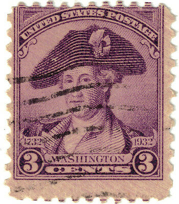 (USA112) 1932 3c violet Washington ow708