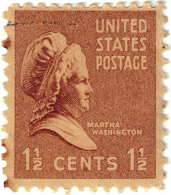 (USA163) 1937 1½c brown Martha Washington ow801