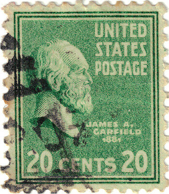 (USA186) 1938 20c green James A Garfield ow821