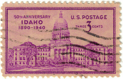 (USA224) 1940 3c violet State Capitol Boise SG893