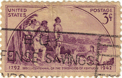 (USA233) 1942 3c violet 150th anni of Kentucky SG901