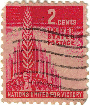(USA235) 1935 2c red allied nations ow904