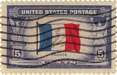 (USA244) 1943 5c flag of France ow912