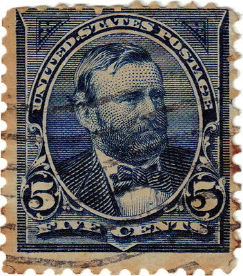 (USA25) 1894 5c blue grant ow286