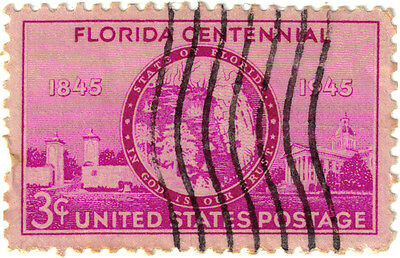 (USA253)1945 3cPurple cent of statehood ofFlorida ow924