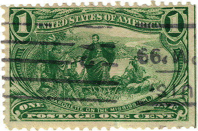 (USA26) 1898 1c green Father Marquette ow291