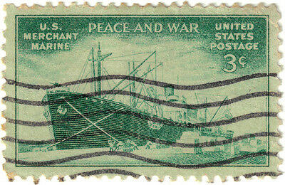 (USA263) 1946 3c green US mercantile Marines SG936