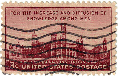 (USA269) 1946 3c purple Smithsonian in situation ow940