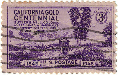 (USA278) 1948 3c violet Sutters mill Coloma ow951