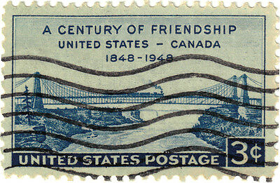 (USA286) 1948 3c blue US & Canada ow958