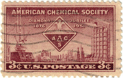 (USA322) 1951 3c purple emblem chemical plant ow999