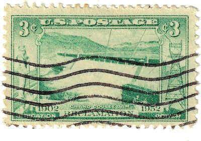 (USA328) 1952 3c green Grand Coulee dam ow1006