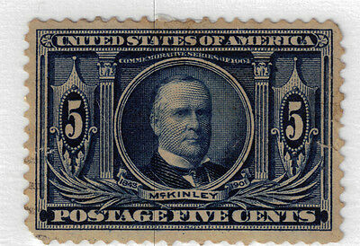 (USA39) 1904 5c blue William McKinley tiny nick ow333