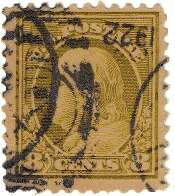(USA53) 1912 8c olive Franklin ow515