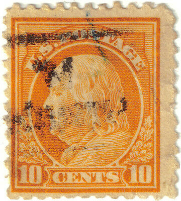 (USA55) 1912 10c yellow Franklin ow517