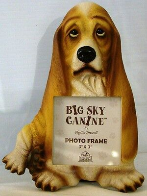 New BASSET HOUND Resin PHOTO Frame BIG SKY CANINE by Phyllis Driscoll