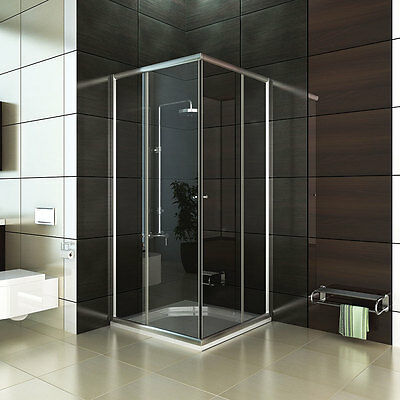 glas duschwand komplett rund dusche duschabtrennung 80x80 oder 90x90. Black Bedroom Furniture Sets. Home Design Ideas
