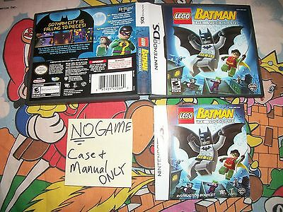 LEGO Batman: The VideoGame 1 Nintendo DS Game Case & Manual Only