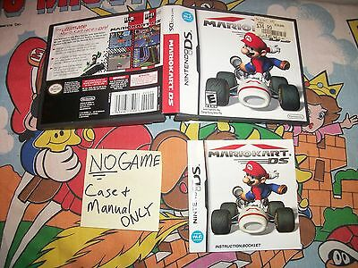 Mario Kart DS Nintendo DS Game Case & Manual Only Cart