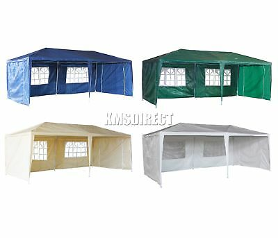 New Waterproof 3m x 6m PE Outdoor Garden Gazebo Party Tent Marquee Awning Canopy