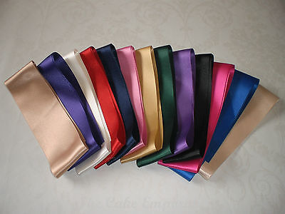Double Satin Ribbon In Various Colours & Lengths, 15mm and 50mm widths
