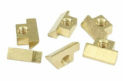 Unplated brass string saddles for Gibson NON-WIRED ABR-1 bridge, Set of 6