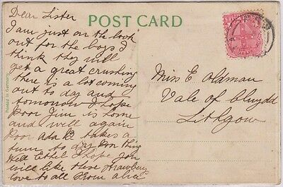 (R7-13) 1909 NSW postcard Easter type