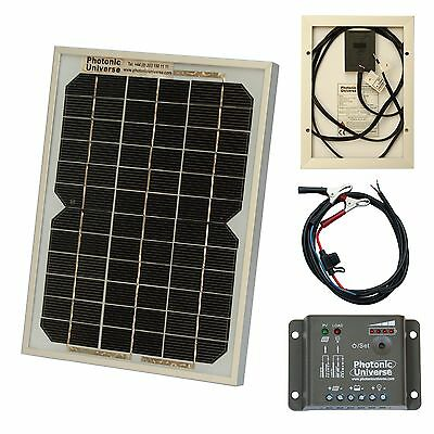 5W solar panel kit / trickle charger for 12V battery car, van, motorbike, boat