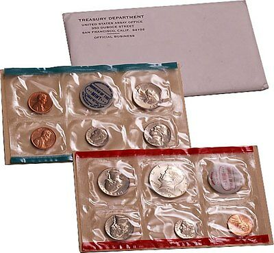 1969 U.S. Mint Set - 10 coin set 40% Silver Half Dollar