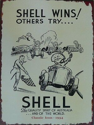 Shell Classic Icon 1934 Add (repo) Memorabilia Metal tin Sign