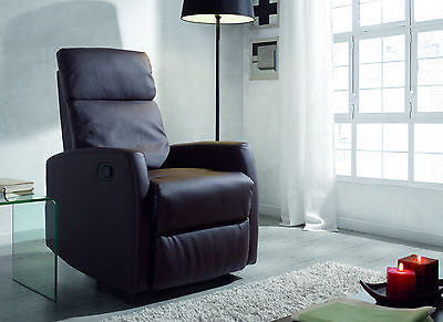 Sillon relax reclinable marron
