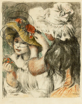 Repro Affiche Pierre Auguste Renoir Chapeau Epingle 1898 Bfk Rives 310Grs