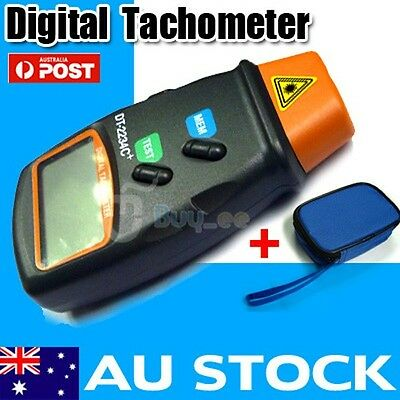 Digital Lcd Laser Tachometer - Handheld Rpm Rev Counter Tacho Kit With Case