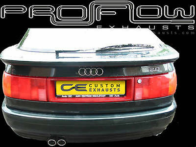 Audi 80 Stainless Steel Mid & Rear Exhausts System Twin Tail Pipes Tips