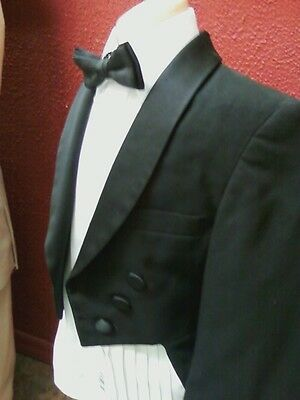 Boys Black Tailcoat Damaged but good for Costume Halloween Drama Play Magician