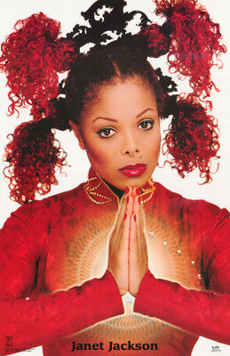 Poster :music: Janet Jackson - Glowing Hands -   Free Shipping ! #9020  Rap124 A