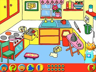Age 1-6+ Learning Land 5 Dominoes Shapes Tims Got a Cold Windows Computer Game