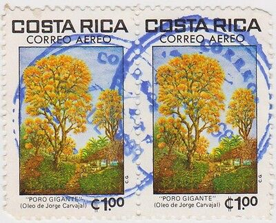 (CR127) 1980 Costa Rica 1col giant Poro pair ow1193